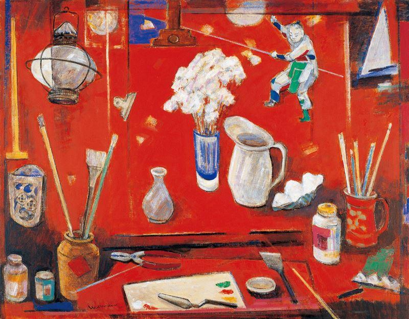 畫室(紅)  2003  91×116cm