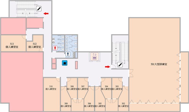 行政大樓五樓平面圖