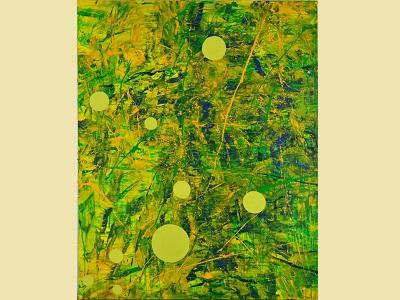 台灣美術院十週年院士大展─薛保瑕─動能現場,2011,壓克力顏料.