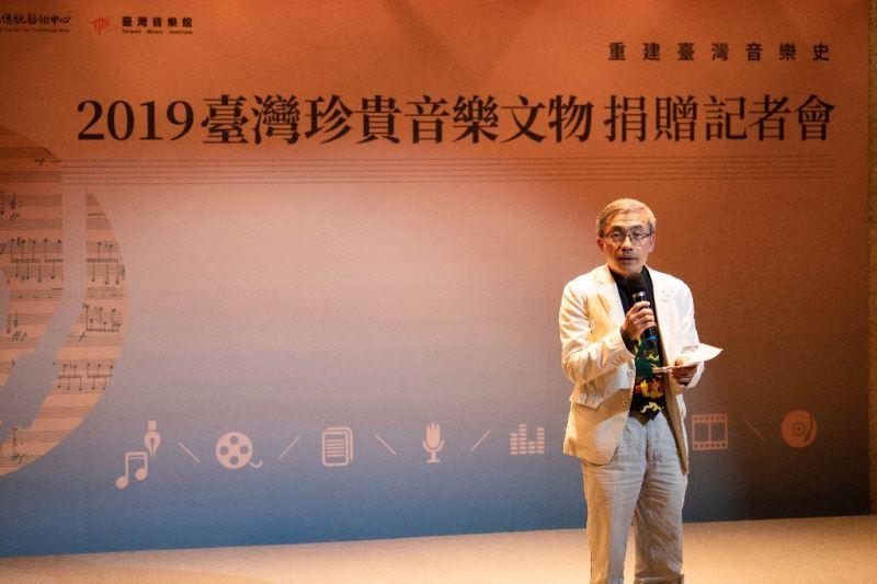 國立傳統藝術中心陳濟民主任致詞