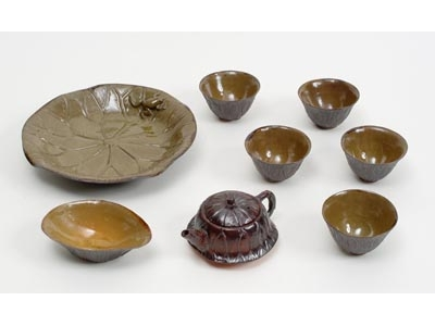 Lotus-Leaf Tea Set from Miaoli