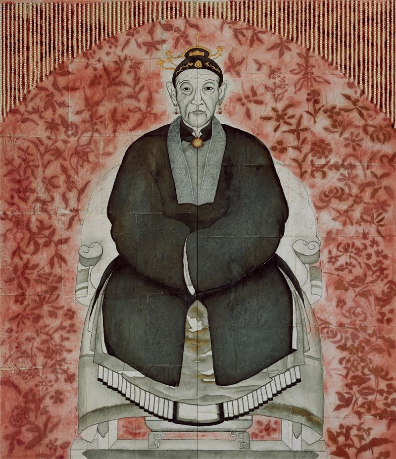 彭賢祥〈童婆太〉1996 綜合媒材 214×183.5 cm