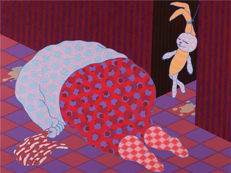 LIAO Yu-An〈On the Spot Vacation Mode Practice No.1〉2011 Acrylic on canvas, mixed media 200×150 cm