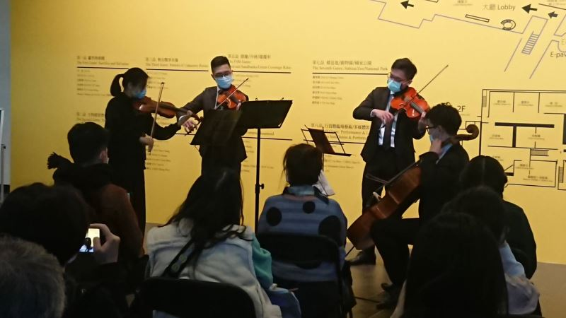 國美館今舉辦「經典再現」週日午後音樂會,由NTSO台灣青年交響樂團的_弦樂四重奏喚醒台灣繪畫之美_(3)