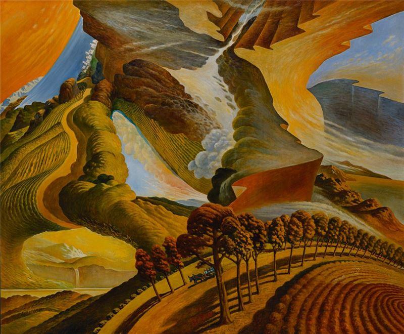 蘇新田〈天旋地轉秋日色〉1991 油彩、畫布 172.8×209 cm