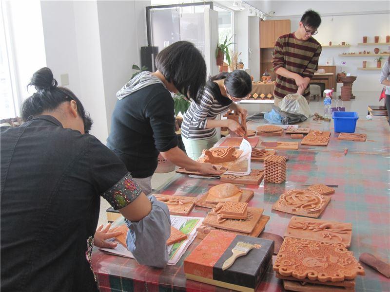 磚雕工藝基礎班-磚片成形工法練習