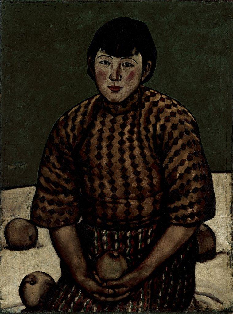 劉錦堂〈香圓〉1929  油彩、畫布  91×67.5 cm