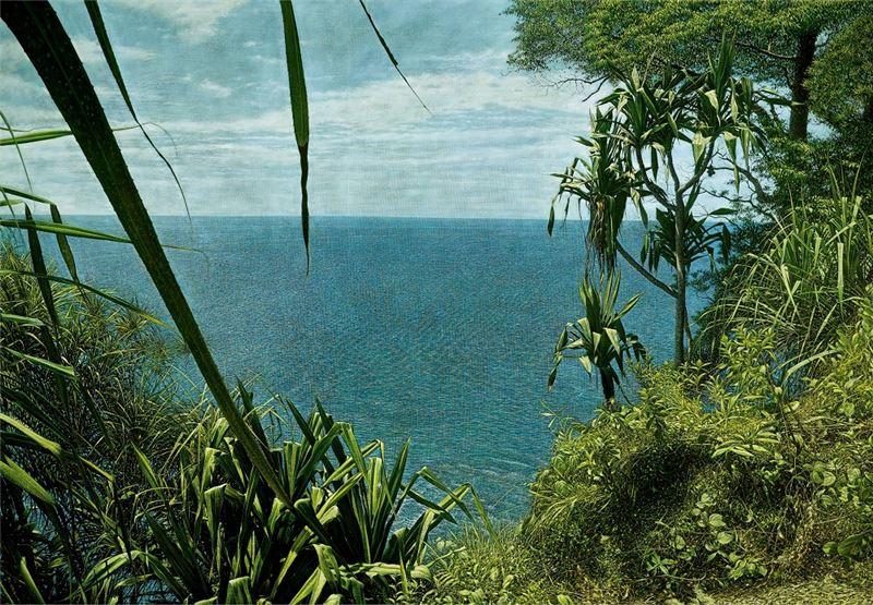 黃銘昌〈海看(海看系列)〉1995 油彩、畫布 145×202 cm