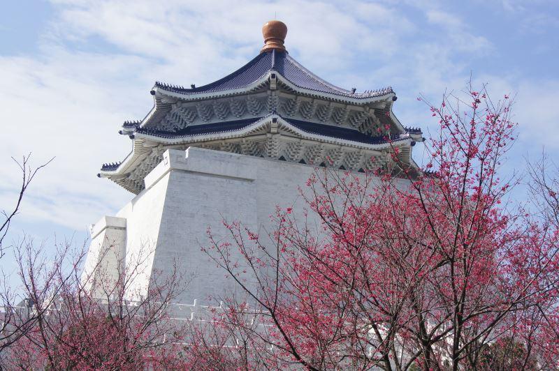 堂體與山櫻花