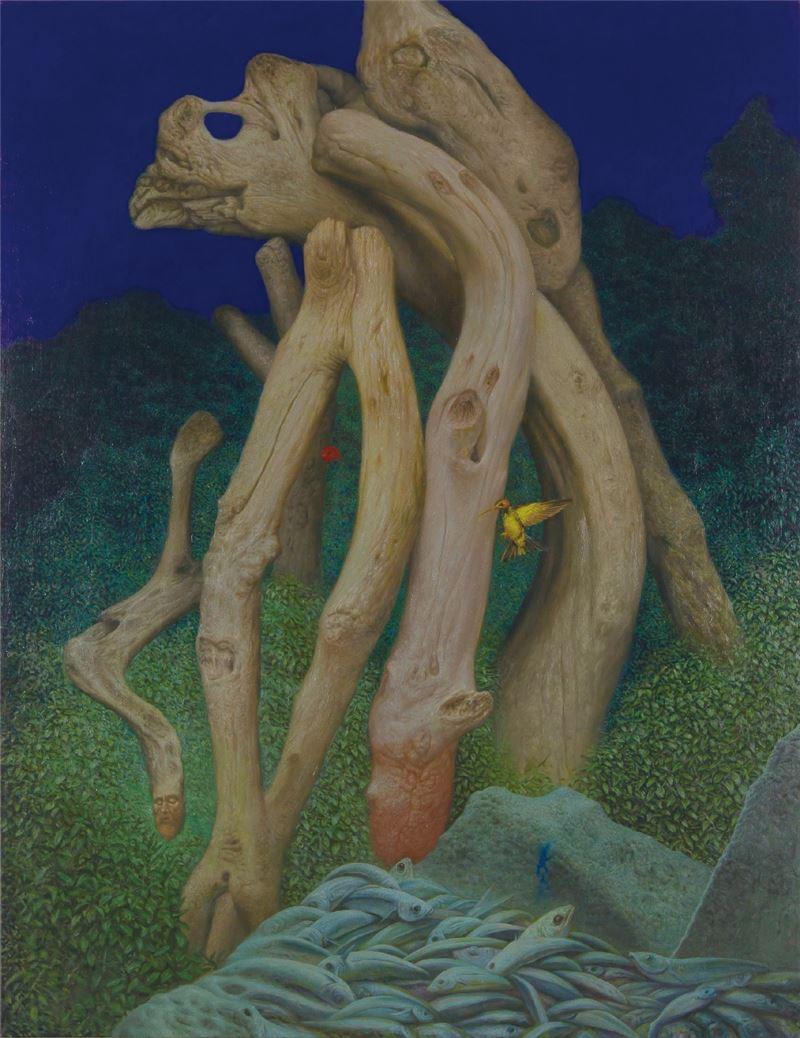 林鉅〈林徑的觀看 九〉2012 油彩、畫布 194×150 cm