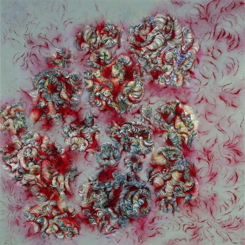 SHIEH Juin〈Jumped Dream〉2012 Oil on canvas 173×173 cm