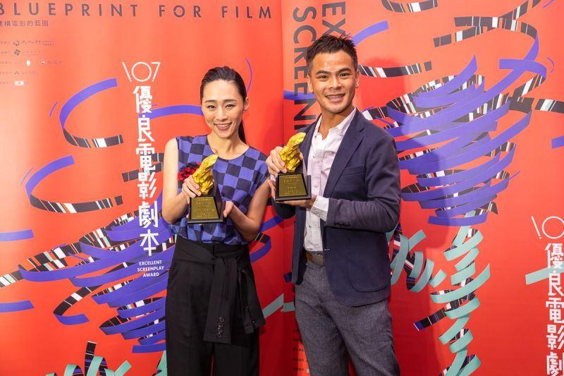 Actors-turned-playwrights Wu Ke-xi (left) and Soda Voyu.