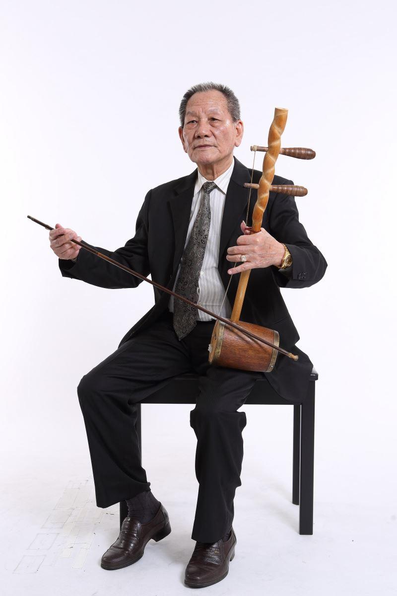 1015新聞照片:林竹岸藝師為文化部重要傳統藝術保存者歌仔戲後場音樂人間國寶