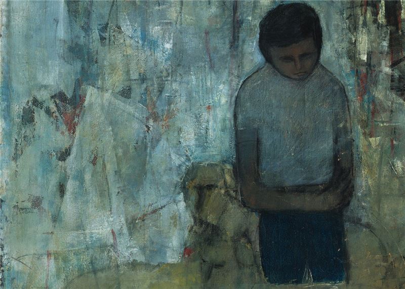 Pan Chau-sen〈Longing for Home (Man Who Misses Home) 〉Detail