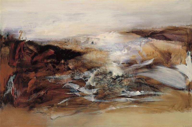 趙無極〈抽象畫〉1969 油彩、畫布 200×300 cm