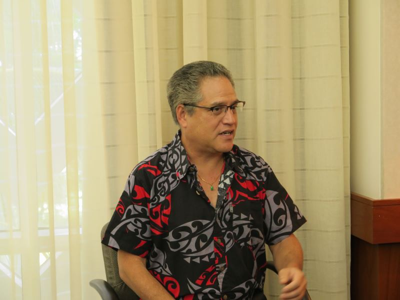 Hawaii Senator J. Kalani English, who is also president of this year's festival commission.