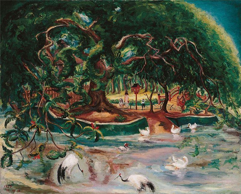 陳澄波〈嘉義遊園地〉1937 油彩、畫布 130×162 cm