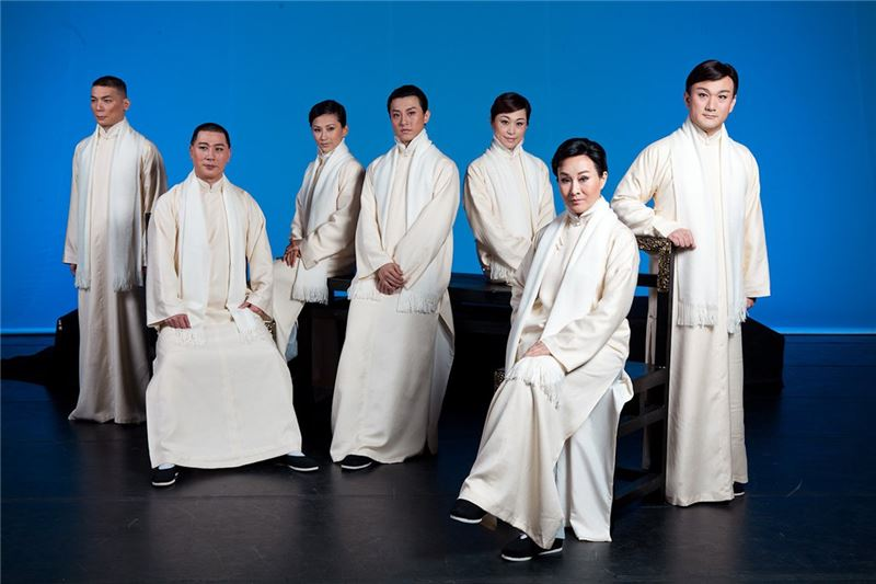 Promotional photo from One Hundred Years on Stage(Wei Hai-min, Tang Wen-hua, Wen Yu-hang, Sheng Chien, Ju Sheng-li, Chen Mei-lan, Chen Chin-ho)