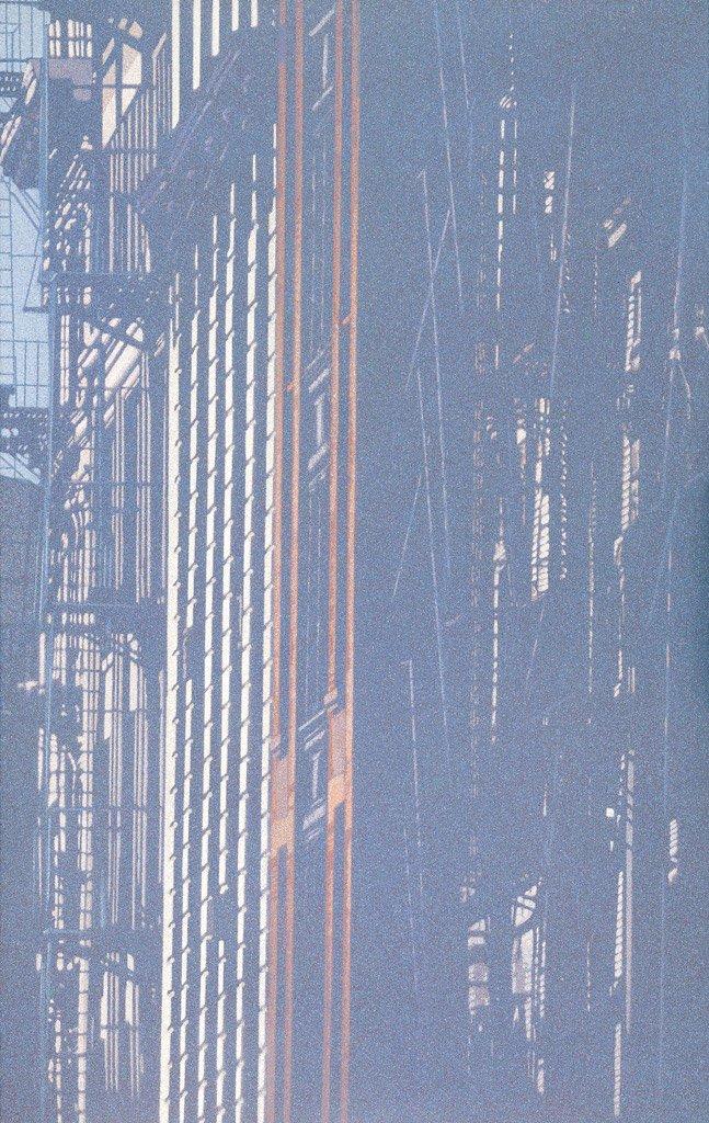 韓湘寧〈王子街〉1972 壓克力顏料、畫布 289×183.5 cm