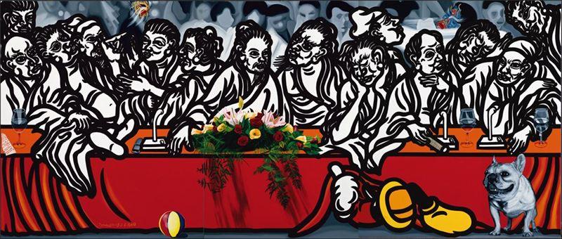 郭振昌〈圖騰與禁忌-會議中心〉2005 壓克力顏料、畫布 200×469.4 cm