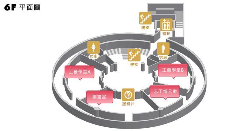 臺北分館六樓平面圖
