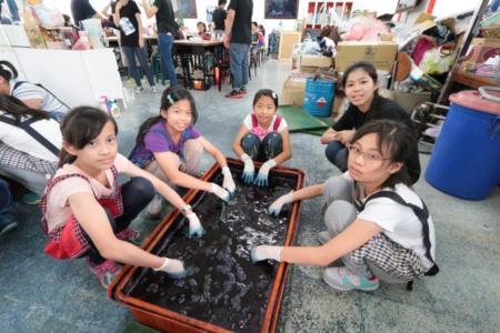 2015兒童工藝夏令營-藍染DIY