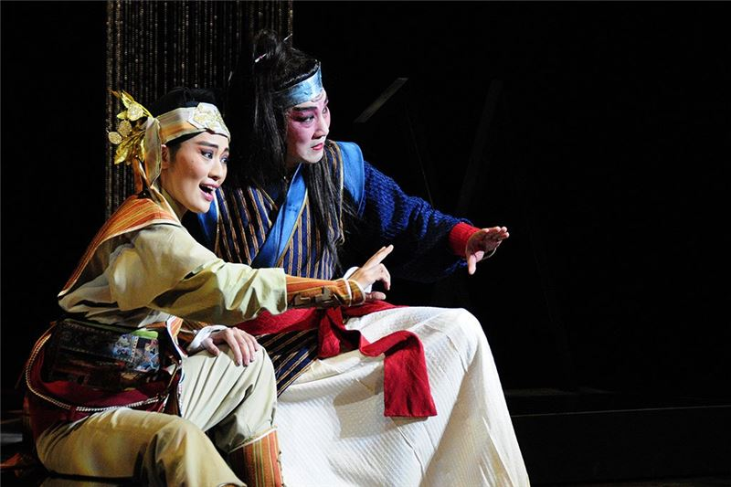 A scene from The Sorceress Bride (Cao Fu-yang as Qu Yan and Liu Jian-hua as Wu Yang) (2010)