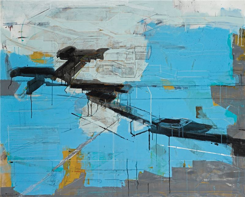 CHEN Chien-Jung〈Landscape 11〉2008 Acrylic on canvas, mixed media 130×162 cm