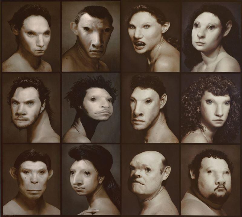 李小鏡〈十二生肖〉1993 柯達相紙 182.5×203 cm