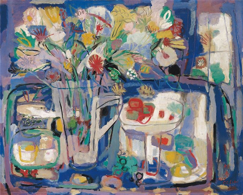 Liao Chi-chun〈Still Life〉1965 Oil on canvas 73.5×91.5 cm