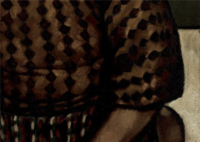 LIOU Jin-tang〈Portrait of the Artist's Wife Holding an Orange〉Detail