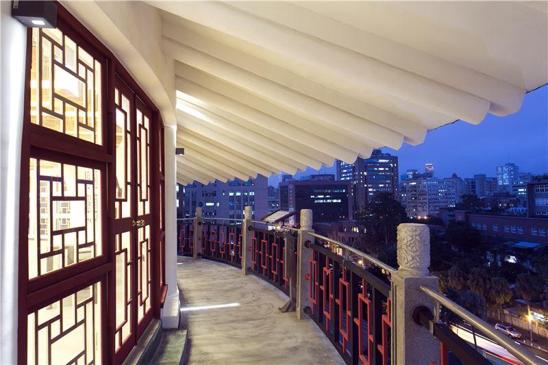 臺北分館七樓外廊道