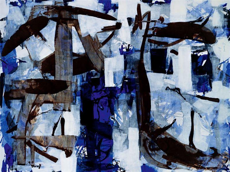葉竹盛〈海洋‧生態(7)〉2008 壓克力顏料、油彩、畫布 248×333.5 cm