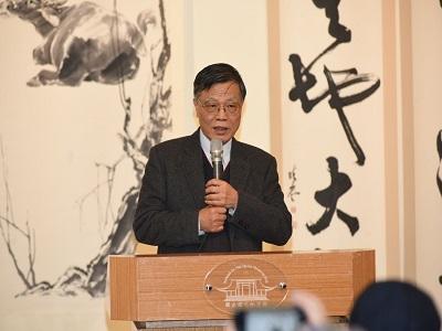 Exhibition artist Lin Jin-jung gave a gratitude speech.