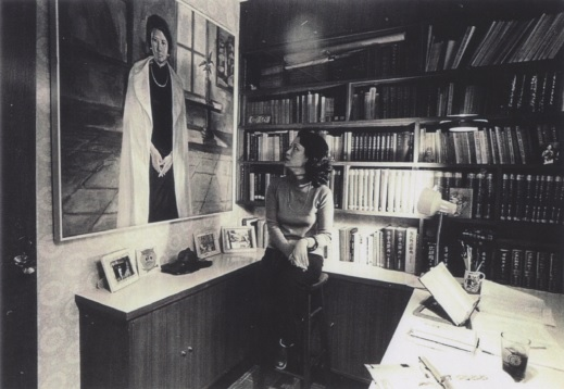 Undated photograph taken at her Heping East Road residence in Taipei.