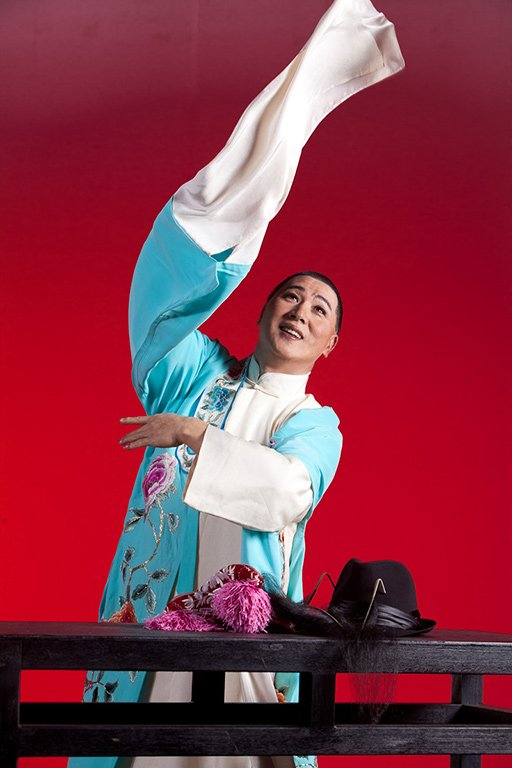《百年戲樓》宣傳照片。(唐文華飾白鳳樓)(2011)
