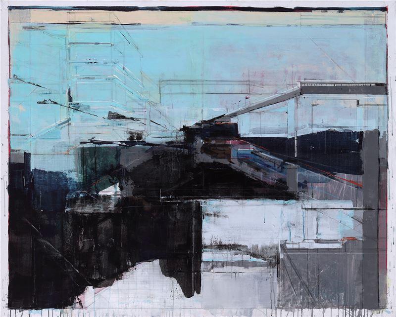 陳建榮〈Landscape 33〉2009 壓克力顏料、畫布、複合媒材 130×162 cm
