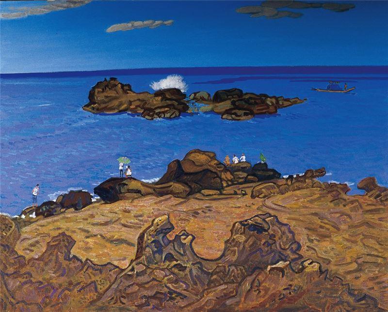 黃朝謨〈佳洛水〉2001 油彩、畫布 90×72 cm