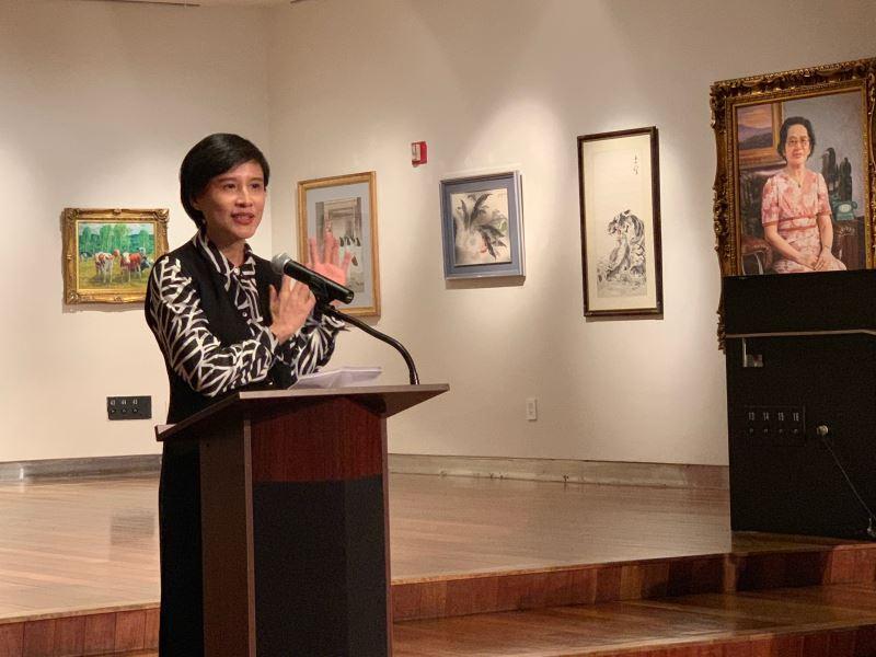 鄭麗君部長於順天美術館藏品美東巡迴展開幕活動中致詞