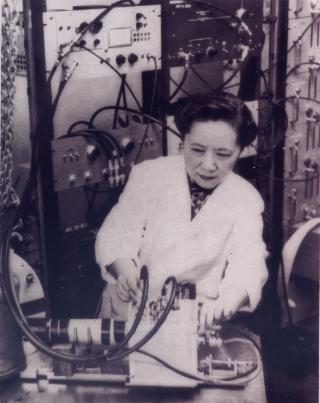 吳健雄1952年攝於哥倫比亞實驗室