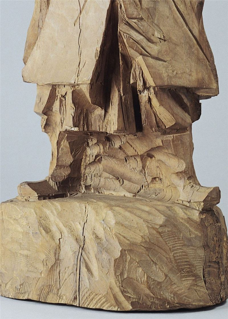 Ju Ming〈A Wood Sculpture of Lord Guan〉Detail