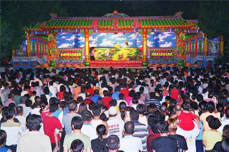 雲林國際偶戲節-廖文和布袋戲現場演出。