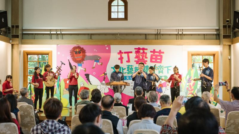 客家八音保存者苗栗陳家班北管八音團現場演出《狀元遊街》