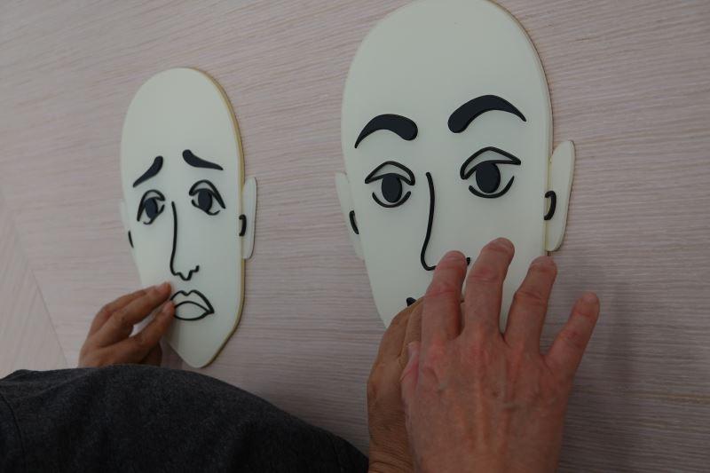 五官表情的差異,也是認識人物畫的重點。
