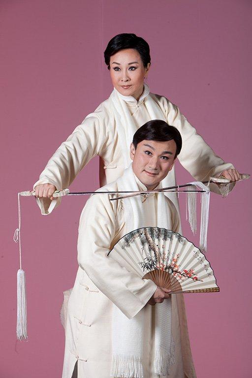 《百年戲樓》宣傳照片。(魏海敏飾茹月涵,溫宇航飾華錚)(2011)