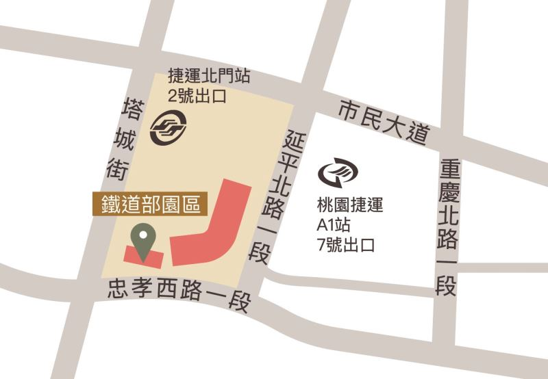 鐵道部園區交通平面圖