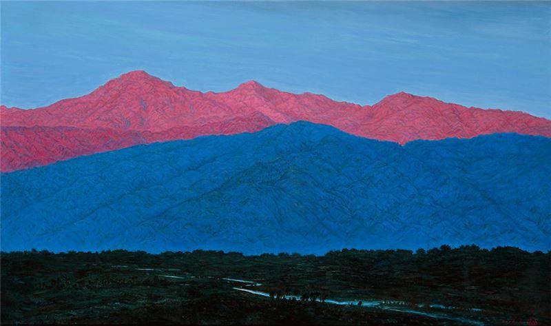 黃朝謨〈山紫(臺灣知本)〉2006  油彩、畫布  96×162 cm