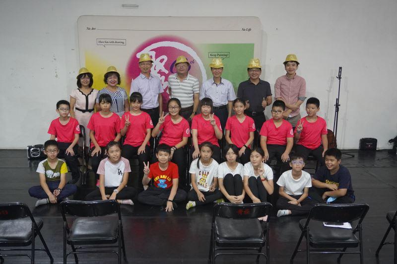 圖說:大元國小師生一同參與盛會進行藝術交流
