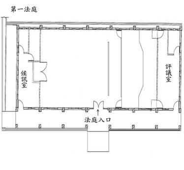 第一法庭(大法庭)平面圖