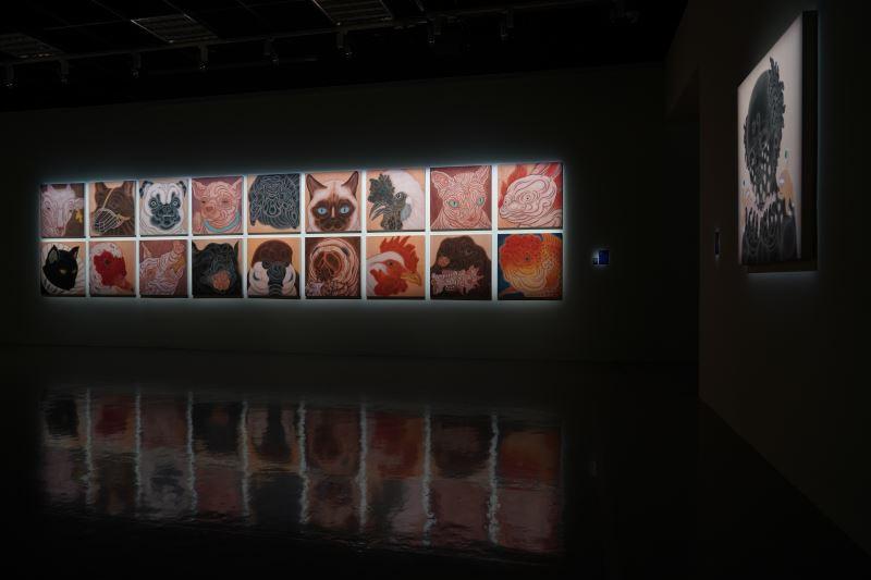 「禽獸不如─2020台雙展」展場-曾建穎作品曾建穎作品